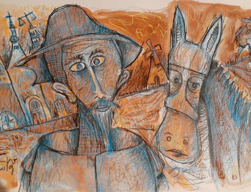 Fundação Scheffel apresenta a exposição Tacho e o Homem de La Mancha